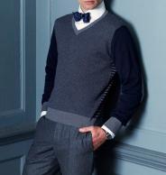 Corbata de moño azul