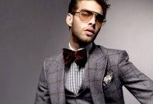 Corbata de moño y traje